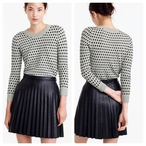 J. Crew Tippie Sweater in Jacquard Dot